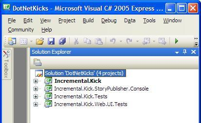 DotNetKicks.com Solution in Visual Studio 2005 Express