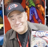 Larry Hama with issue #156