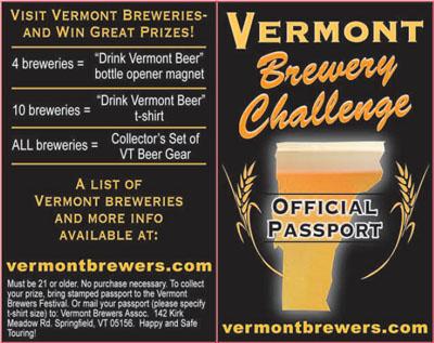 Vermont Brewery Challenge - Passport
